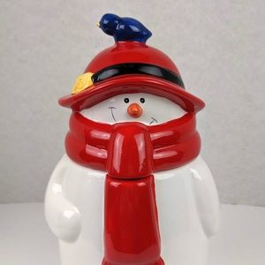 Snowman in a Scarf Cookie Storage Jar